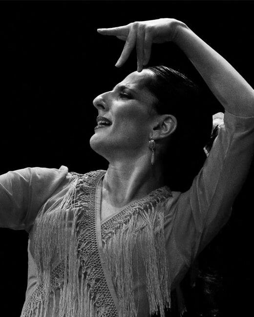 Photo de Mercedes Ruiz, célèbre danseuse espagnole de flamenco