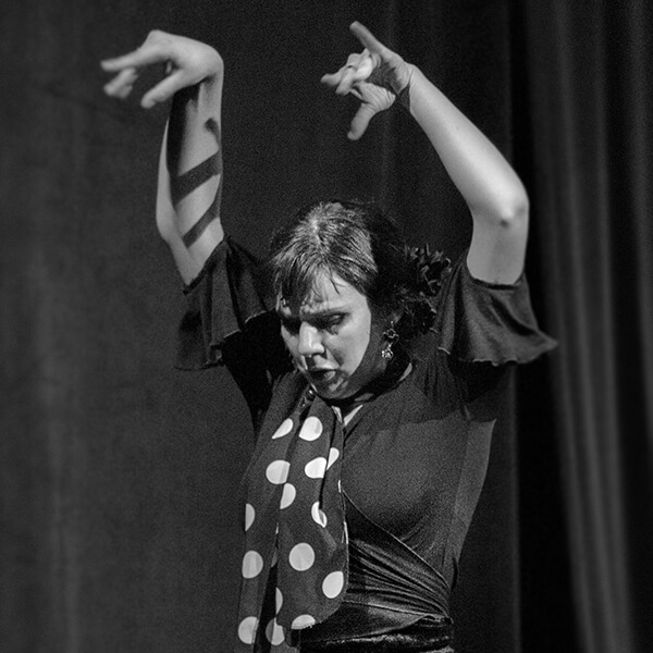 Danseuse de flamenco lors d'un spectacle